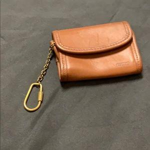 Coach leather card/ key